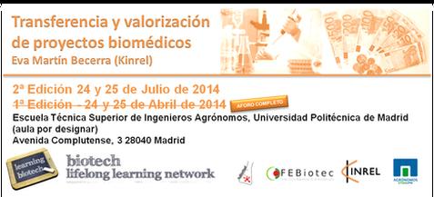 Curso de Transferencia y valorización de proyectos biomédicos 2ª Edición