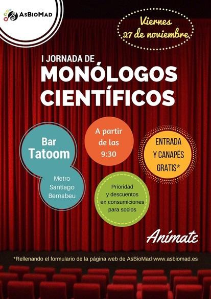 I Jornada de Monólogos Científicos