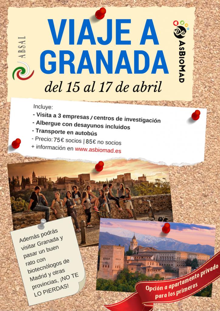 Inscripción al viaje a Granada de AsBioMad